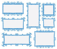 Doodle frames. Hand drawn doodle blank frame vector drawing Royalty Free Stock Photo