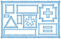 Doodle frames. Hand drawn doodle blank frame vector drawing Royalty Free Stock Image