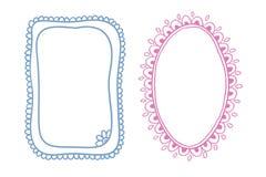 Doodle frames Stock Image
