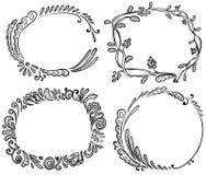 Doodle frames Royalty Free Stock Photos