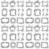 Doodle frames. Seamless pattern. vector illustration