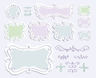 Doodle frames set Royalty Free Stock Photos