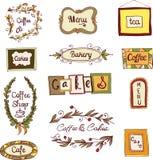 Doodle frames set Stock Photography