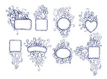 Doodle frames Royalty Free Stock Images