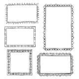 Doodle frames. Set of doodle frames on white background Royalty Free Stock Images
