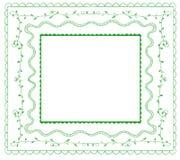 Doodle frames VECTOR set. Green on white. Doodle frames VECTOR set. Green lines  on white Royalty Free Stock Image