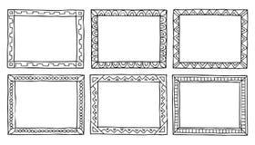 Doodle framework Stock Photos