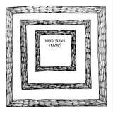 Doodle framework on white Royalty Free Stock Photography
