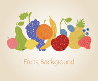 Doodle fruits background Stock Photography