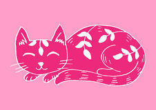 Doodle funny cat vector illustration