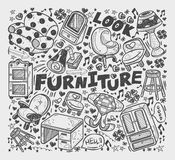 Doodle Furniture element Stock Photos
