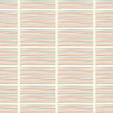 Doodle Geo Stripes голубой красный цвет и сливк Стоковое Фото