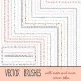 Doodle Geometric Brushes vector illustration