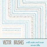 Doodle Geometric Brushes Royalty Free Stock Image