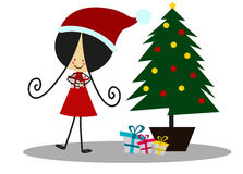 Doodle gifts at Christmas - Full Color Stock Image