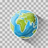 Doodle globe. On transparent, vector illustration for your design, eps10 3 layers Royalty Free Stock Photos