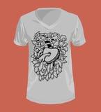 Doodle grafika dla koszulki i styl Obrazy Royalty Free