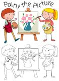 Doodle graphic of art vector illustration