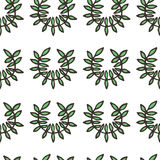 Doodle greek ancient wreath seamless pattern Royalty Free Stock Photos