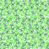 Doodle green clover shamrock Saint Patrick's Day seamless pattern Stock Images