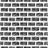 Doodle grunge ściana z cegieł Obraz Royalty Free