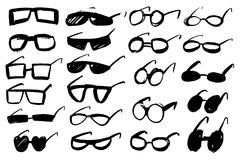 Doodle grunge glasses Royalty Free Stock Image
