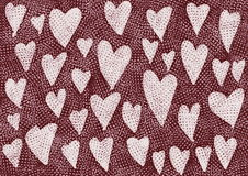 Doodle grunge hearts pattern Stock Images