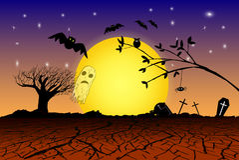 Doodle Halloween Background Royalty Free Stock Image