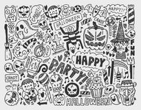 Doodle halloween holiday background Stock Photography
