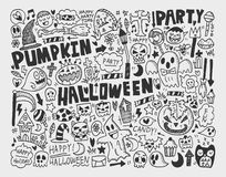 Doodle halloween holiday background Royalty Free Stock Photos