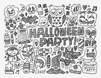 Doodle halloween holiday background Stock Images