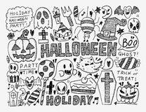 Doodle halloween holiday background Royalty Free Stock Image