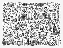 Doodle halloween holiday background Stock Image