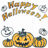 Doodle halloween pumpkins Royalty Free Stock Photo