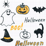 Doodle halloween seamless background Stock Images