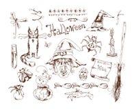 Doodle Halloween set Stock Image