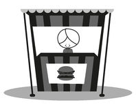 Doodle Hamburger Seller Royalty Free Stock Photography