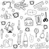 Doodle of hand draw element school Stock Photo