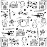 Doodle of hand draw music set Royalty Free Stock Image