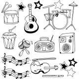 Doodle hand draw music set Stock Photo