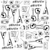Doodle with hand draw music set Royalty Free Stock Photo