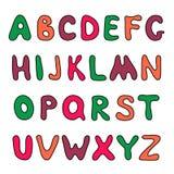 Doodle hand drawn alphabet Stock Photo