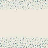Doodle hand-drawn background with borders of drops Royalty Free Stock Image