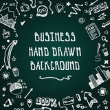 Doodle hand drawn business vector background Royalty Free Stock Photos