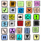 Doodle hand drawn business and  web icons Stock Images