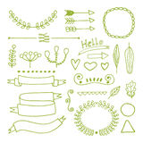 Doodle hand drawn design elements Royalty Free Stock Images