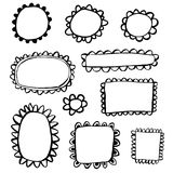 Doodle hand drawn frames Royalty Free Stock Images