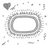 Doodle Hand drawn frames set. Vector illustration Royalty Free Stock Photography