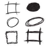 Doodle Hand drawn frames set. Vector illustration Royalty Free Stock Photo