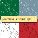 Doodle hand drawn seamless pattern background with arrows and lines. Royalty Free Stock Photos